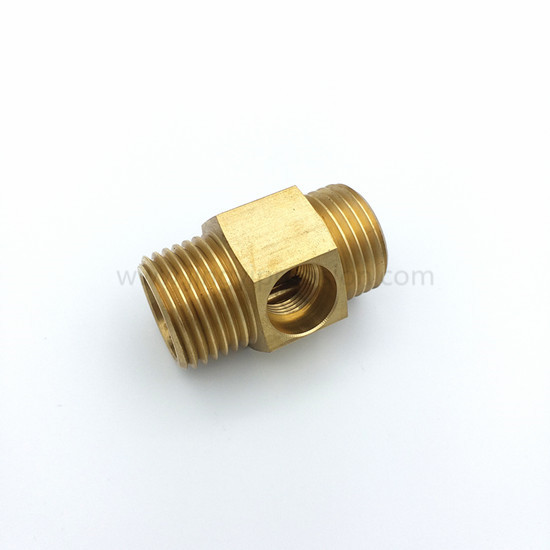 CNC lathe Brass connector-1
